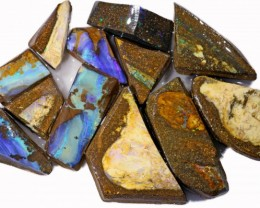 395 CTS  MIXED WOOD FOSSIL OPAL ROUGH PARCEL- [BY7317]
