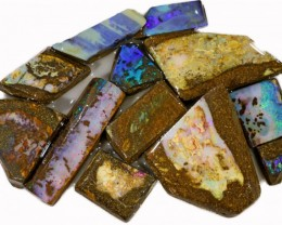 300 CTS  MIXED WOOD FOSSIL OPAL ROUGH PARCEL- [BY7319]