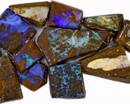 385 CTS  MIXED WOOD FOSSIL OPAL ROUGH PARCEL- [BY7318]