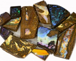 390 CTS  MIXED WOOD FOSSIL OPAL ROUGH PARCEL- [BY7320]