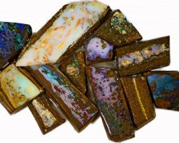 355 CTS MIXED WOOD FOSSIL OPAL ROUGH PARCEL- [BY7322]