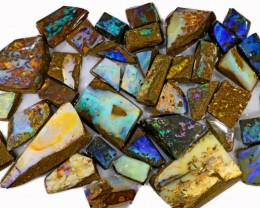 790 CTS MIXED WOOD FOSSIL BOULDER OPAL ROUGH PARCEL- [BY7330]