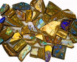 985 CTS MIXED WOOD FOSSIL BOULDER OPAL ROUGH PARCEL- [BY7331]
