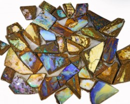 805 CTS MIXED WOOD FOSSIL BOULDER OPAL ROUGH PARCEL- [BY7334]