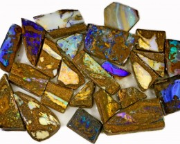 655 CTS MIXED WOOD FOSSIL BOULDER OPAL ROUGH PARCEL- [BY7338]