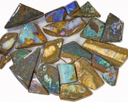 540 CTS MIXED WOOD FOSSIL BOULDER OPAL ROUGH PARCEL- [BY7340]