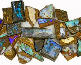 425 CTS MIXED WOOD FOSSIL BOULDER OPAL ROUGH PARCEL- [BY7341]