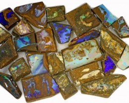 495 CTS MIXED WOOD FOSSIL BOULDER OPAL ROUGH PARCEL- [BY7342]