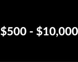 $500 - $10,000