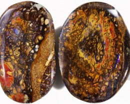 95.4 CTS LARGE DOUBLE SIDED PAIR BOULDER OPAL PPP603