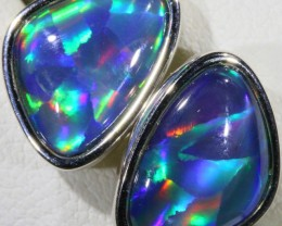Gem Opal Triplet set in Silver Earring SB 405