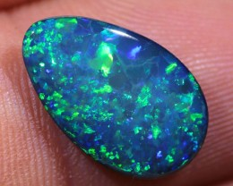 2.8ct Electric Green Lightning Ridgee Gem Opal Doublet