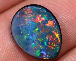 3.35 Floral Harlequin Lightning Ridge Gem Opal Doublet