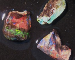 3 pieces Australian Andamooka Matrix Rough Opal