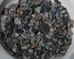 Mintabie Black Opal Tumbled Stones 1000+ Cts Mintabie