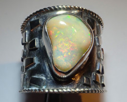 7.50size Natural Ethiopian Welo Opal .925 Sterling Silver