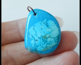 24.5Ct Blue Opal Gemstone Pendant Bead