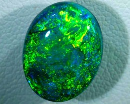 N-3 5.98 CTS QUALITY BLACK SOLID OPAL LIGHTNINGRIDGE INV-393