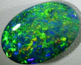 N-2 7.03 CTS QUALITY BLACK SOLID OPAL LIGHTNINGRIDGE INV-394