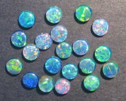 Parcel of Australian Opal Triplets, 5mm rounds
