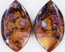 42.65 CTS BOULDER OPAL PAIR -WELL POLISHED [SO7495 ]