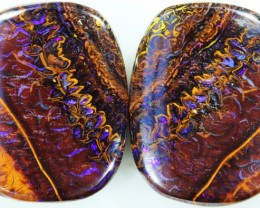 35.65 CTS BOULDER OPAL PAIR -WELL POLISHED [SO7504 ]