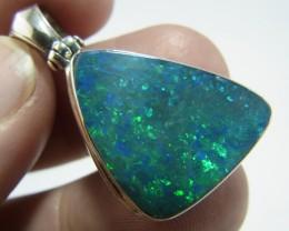 Large doublet opal pendant