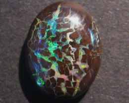 8.3ct Australian Queensland Boulder Opal Solid, 14x10mm