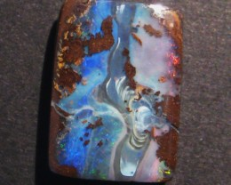 20.2ct Australian Queensland Boulder Opal Solid, 22x16mm