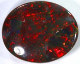 12.36cts RED/BLACK Lightning Ridge Opal Cut Stone
