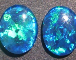 Pretty pair of Australian Opal Triplets, 9x7mm