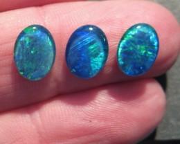 Parcel of 3 Australian Opal Triplets, 9x7mm