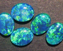 Parcel of 5 Australian Opal Triplets, 9x7mm