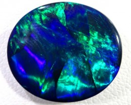 N-1  7.75 CTS QUALITY BLACK SOLID OPAL LIGHTNING RIDGE INV-402