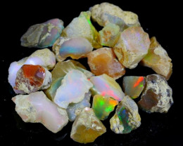 84Ct / 20Pcs Multi Color Ethiopian Welo Opal Rough Parcel Lot