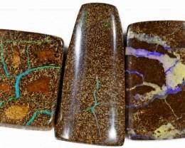 169 Cts Parcel three Boulder Yowah  opals CF 620