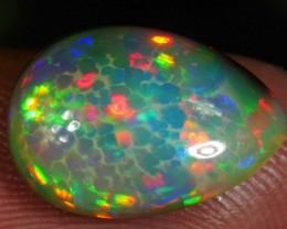2.80 CT 100% Natural Darkbase Honeycomb Welo Opal