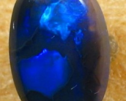 Solid Black  Opal (161) from Lightning Rodge