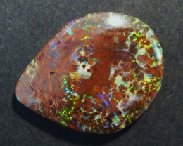 28ct Bright Australian Opal Solid, part of a Yowah Nut, 29x22mm