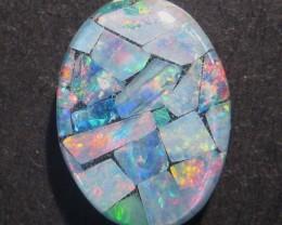 16x12mm Australian Coober Pedy Mosaic Opal Triplet