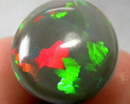 10.05cts Natural Dark Ethiopian Opal Magical Rolling Patterns
