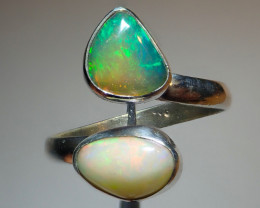 7.75size Natural Ethiopian Welo Opal .925 Sterling Silver
