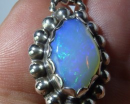 Natural Ethiopian Welo Opal .925 Sterling Silver Pendant