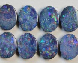 9.38 CTS  -  8 PIECES OPAL DOUBLE PARCEL CALABRATED D838