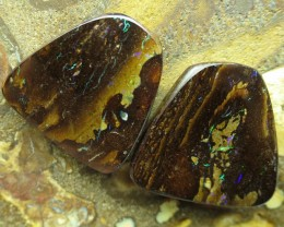 "52cts.""BOULDER MATRIX OPAL PAIR~MINER 2U DIRECT"""