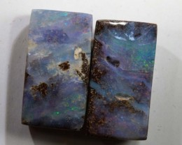 19.5 CTS BOULDER OPAL PAIR  POLISHED CUT STONE TBO-5365