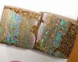 25.3 CTS BOULDER OPAL PAIR  POLISHED CUT STONE TBO-5374
