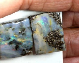 35.5 CTS BOULDER OPAL PAIR  POLISHED CUT STONE TBO-5379