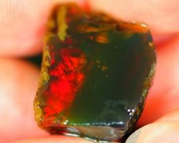 28cts Red Flash Untreated Ethiopian Welo Rough Specimen Rough Stone