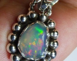 Solid Opal Handmade Quality Sterling Pendant